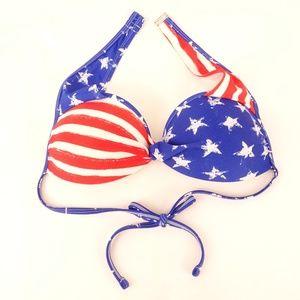 Xhilaration Bikini Top American Flag - XL